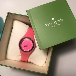 Hot Pink/Gold Kate Spade Silicone Watch
